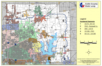 Collin County Outer Loop Map